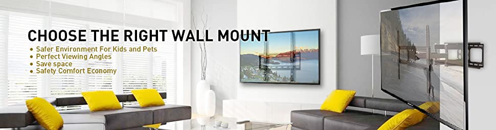 Primecables Tilt Tv Wall Mount For 37 70 Inch Curvedpanel Tvs Up To