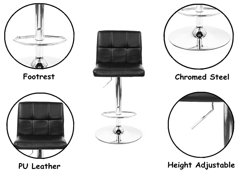 Brilliant Bouclair Matte Faux Leather And Chrome Adjustable Bar Stool Gmtry Best Dining Table And Chair Ideas Images Gmtryco