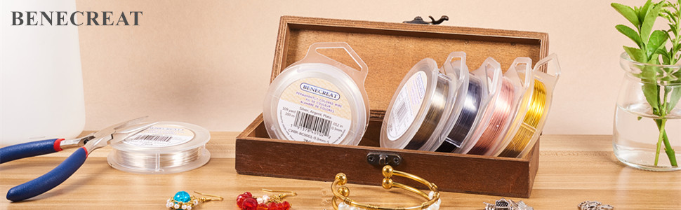 Totally 109 Yards 5 Rolls 0.3mm Copper Wire Tarnish Resistant Jewelry Beading Wire for Jewelry Making 5 Mixed Colors