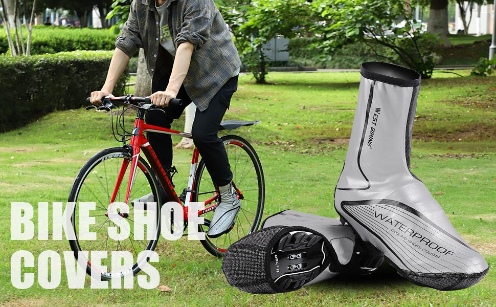 Poids Moyen Overshoes Coupe-vent Cycling Shoe Cover Réfléchissant Imperméable Bottes