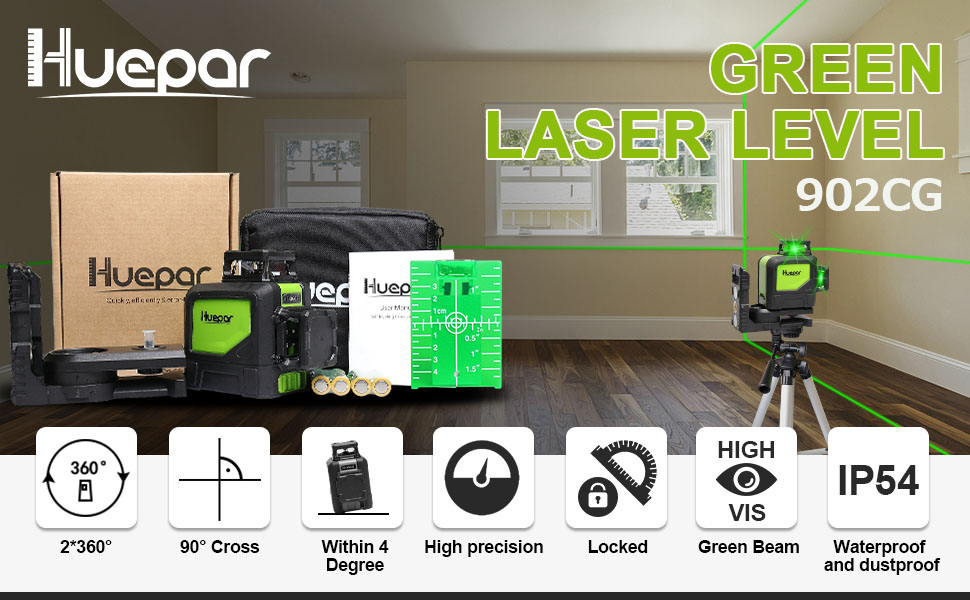 Cross Line Niveau laser avec 2 points point Self Leveling rouge poutres levelsure