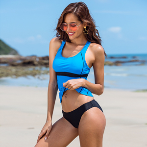 9b0daa4459fe4 Solid bikini top with wide straps, shelf bra with removable soft cups for  added support