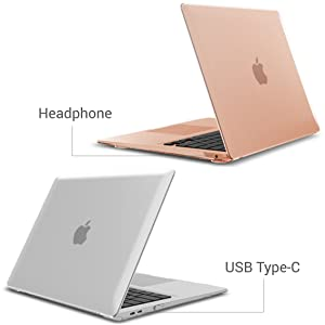 ,Rose Quartz Dust Plug for Apple 2009-2017 Macbook Air 13 inch Keyboard Cover Applefuns macbook air cases 13 inch 4in1 Ultra Slim Plastic Protective matte Hard Shell Case cover Screen Protector Model A1369//A1466