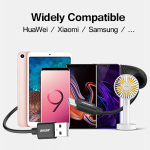 Type C to USB A 2.0 Scalable Spring Fast Charging and Data Sync Cable 5ft Supports Both 3.1A MAX Electricity Coiled USB C to USB A Cable