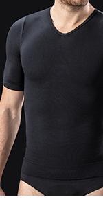 Farmacell Man 419H Maglia T-Shirt Mezza Manica Uomo Modellante Contenitiva con Filato Heat Termico e Protettivo