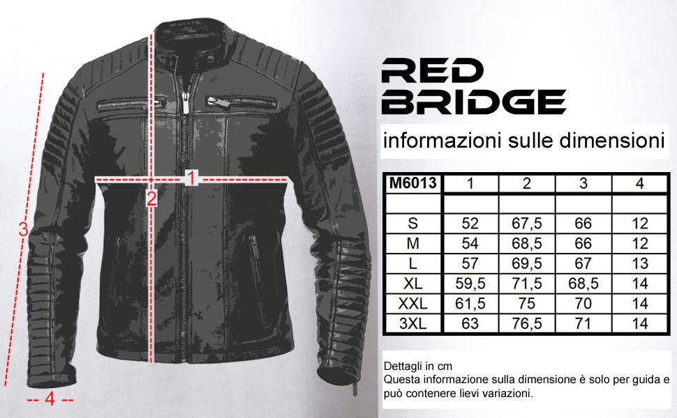 Giacca da motociclista da uomo in pelle sintetica da uomo Redbridge Giacca moto da corsa M6013