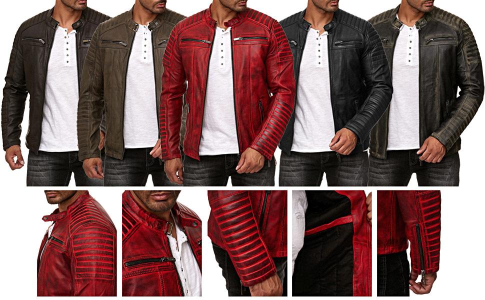 red bridge uomo giacca giubbotto giubbino da mezza stagione vera pelle finta pelle ecopelle