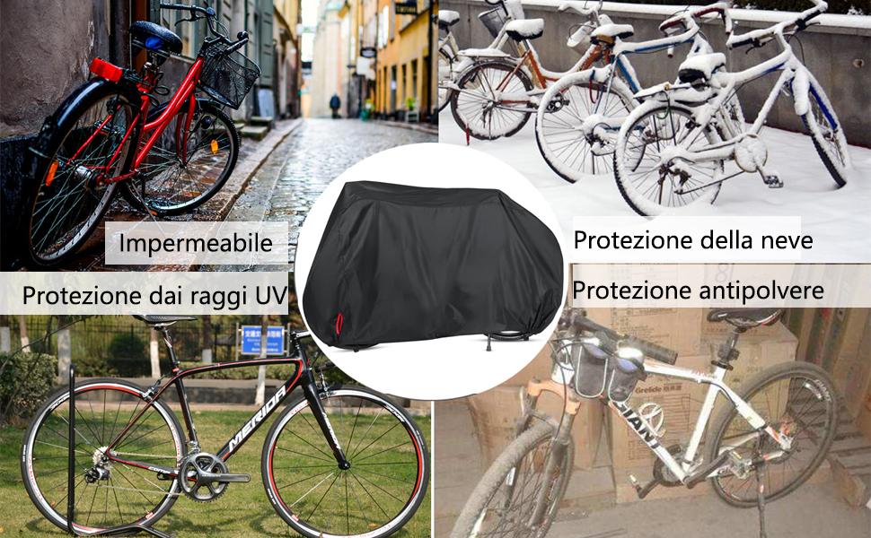 neve e Impermeabile doppia copertura per bicicletta bici /& BICICLETTA Bici all/'aperto Copertura polvere