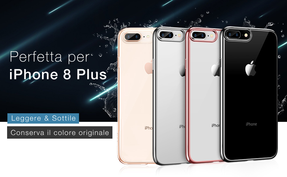 custodia trasparente iphone 8 plus