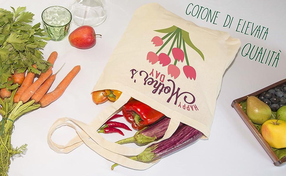 borsa shopper cotone personalizzata personalizzabile