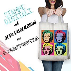 borsa shopper cotone personale personalizzabile