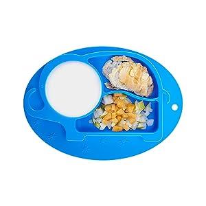 napperon en silicone ZABO pour b/éb/é Antid/érapant pour b/éb/é et enfants Assiette pour b/éb/é 20 x 22 x 2,5 cm lassiette pour enfant sadapte /à la plupart des plateaux pour chaise haute