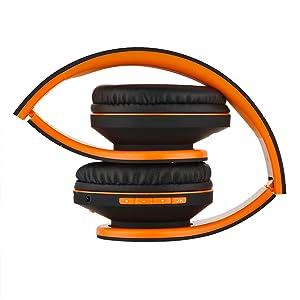 Cuffie pieghevoli con custodia di powerlocus molto facile da trasportare cuffie senza fili per sport