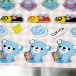regalo modelli casuali adesivi animali per bambini,24 adesivi in 3D di vari disegni simpatici adesivi,adesivi decorativi per telefono cornice per foto MKISHINE 24 Fogli cartoleria