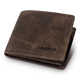 Πορτοφόλι από φυσικό δέρμα SPAHER
