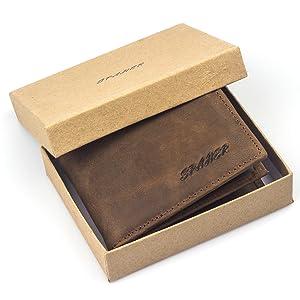Ανδρικό πορτοφόλι σε πραγματικό δέρμα
