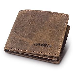 Ανδρικό πορτοφόλι SPAHER από γνήσιο δέρμα.
