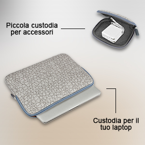 b9b6b8773d Arvok 15-15,6 Pollici Custodia Borsa Sleeve per Laptop, Protettiva ...