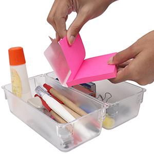 TopHGC TopHGC Organizer per cassetti 8 divisori per vassoi divisori Organizer per cassetti ad incastro per cassetti Bianca