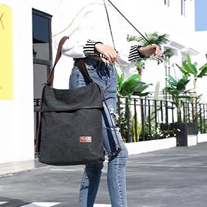 borsa donna zaino tote nera grande shopping viaggio lavoro
