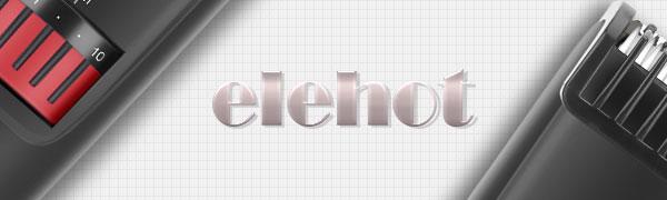 Regolabarba Tagliacapelli Uomo Professionale Elettrico Barba e Capelli Precisione 20 Lunghezze Pettine Distanziatore Batteria Litio ELEHOT