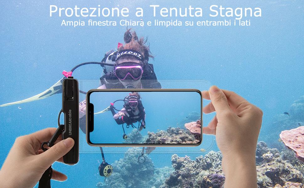 custodia impermeabile smartphone