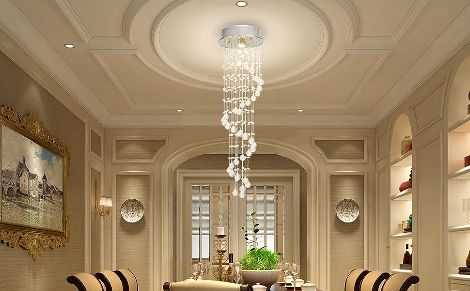 Plafoniere In Cristallo Miglior Prezzo : Cclife lampadario cristallo moderno a sfera in