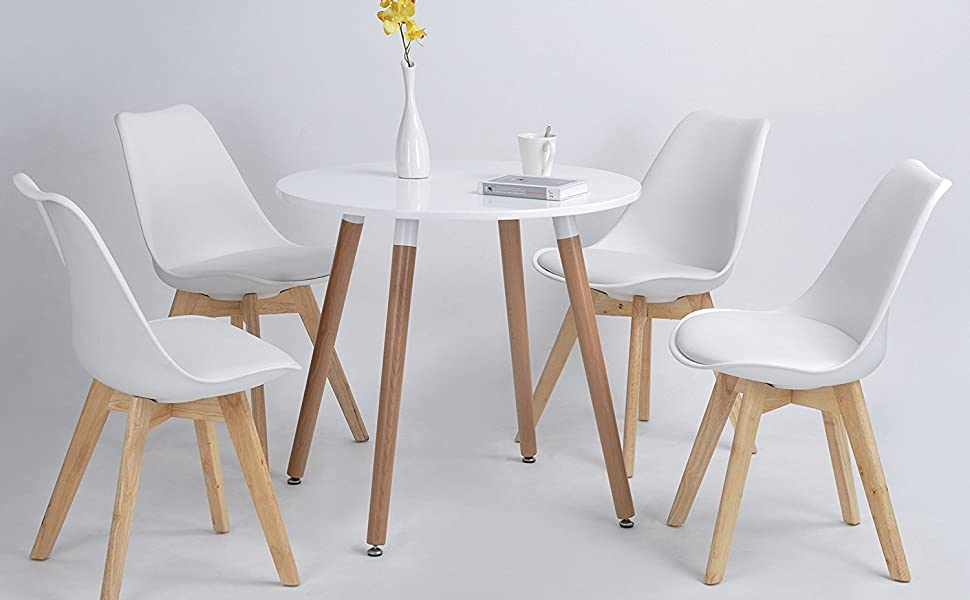 Dorafair set di 6 moderne sedie da pranzo tulip pranzo ufficio