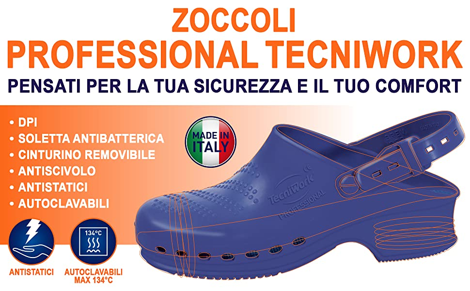 Zoccoli in gomma made in Italy