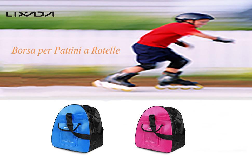 Lixada Borsa per Pattini Roller Skate Scarpe Borsa Alta Rimbalzo Borsa Hockey Skate Figura Scarpe Caso