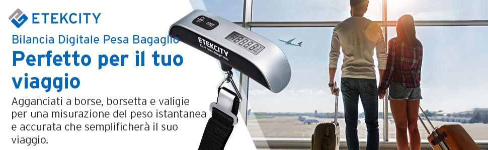 Etekcity bilancia digitale pesa bagaglio valigie 50kg//110lb con sensore di