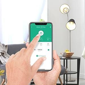 e Google Home funzione timer compatibile con  Alexa 2300 W Etekcity Wlan Smart presa Wifi Plug presa telecomando Echo//Echo Dot con controllo app e indicatore di consumo 2 pezzi