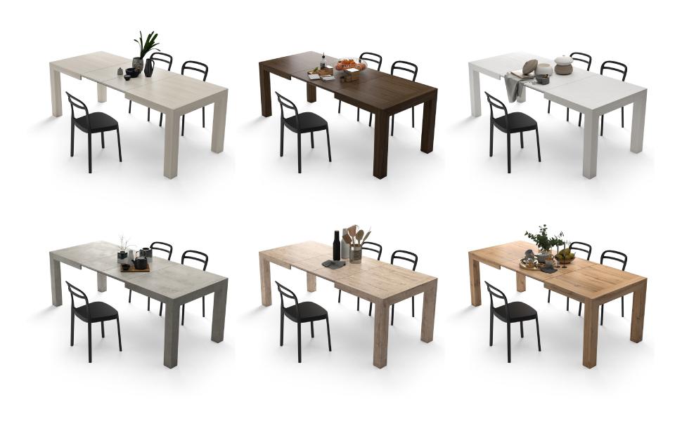 Tavolo Allungabile Moderno, Iacopo, Grigio Cemento | Mobili