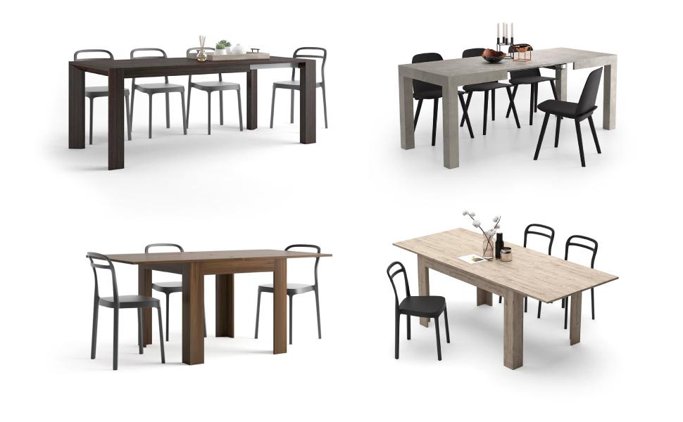 Mobili fiver tavolo allungabile moderno iacopo noce for Mobili 5 stelle