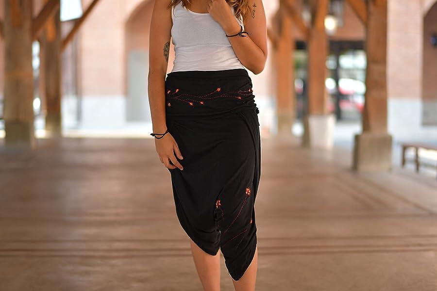 virblatt – gonna pantalone alla turca donna elegante e sportivo- Geschickt 78b09bfcbbe