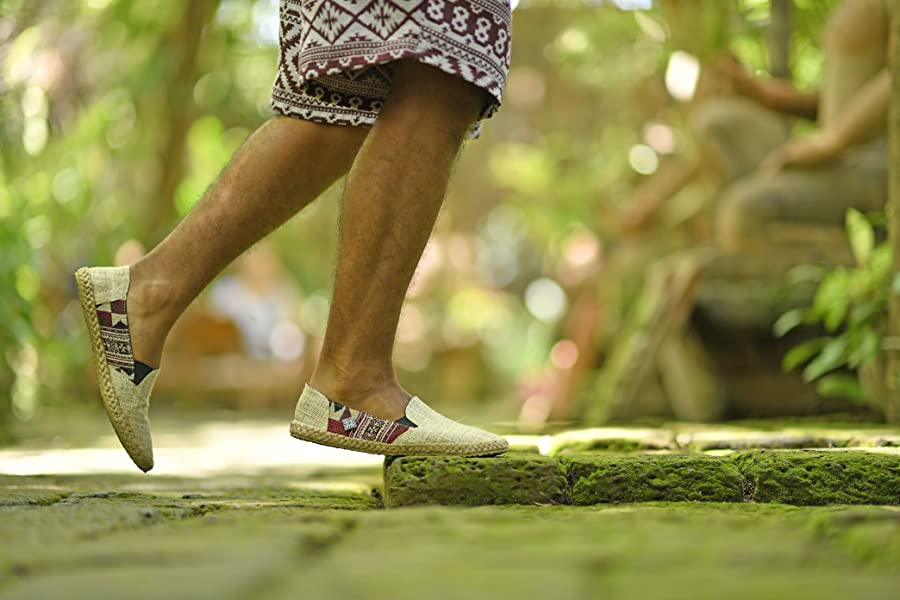 virblatt comode espadrillas uomo di canapa misura 40 41 42 43 44 canapa  scarpe estive con motivi etnici calzature naturali e scarpe ecologiche 62fa3f026407