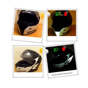 10 x 15 cm foglio Bianco 3M Technology/™ VFLUO 3M REFLECTIVE COLORS/™ Kit adesivo universaleFai da te per Casco//Moto//Motorino//Bicicletta