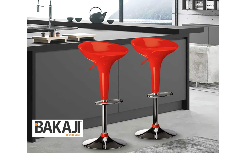 Bakaji sgabello bar cucina altezza regolabile base in acciaio