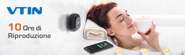 altoparlante bluetooth da doccia