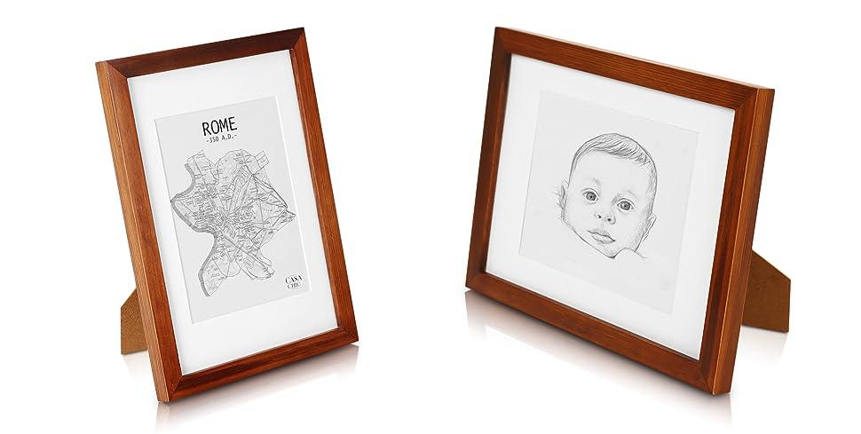 Classic by casa chic solida a4 cornice per foto in legno for Cornici foto 15x20