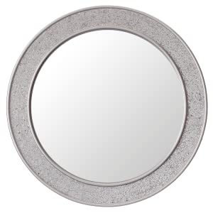 Glamour by Casa Chic Specchio Mosaico Rotondo – argento- B00XO078YO- MOSAIC2-60x60