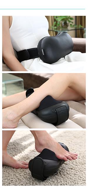 Cuscino da massaggio con Heizfunktion shiatsumassage 4 palline da massaggio portatile NUOVO