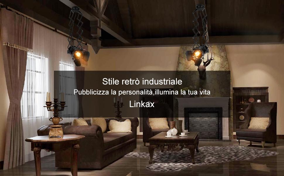 Illuminazione Retrò Cucina : Linkax lampadario a soffitto vintage retro lampada a sospensione