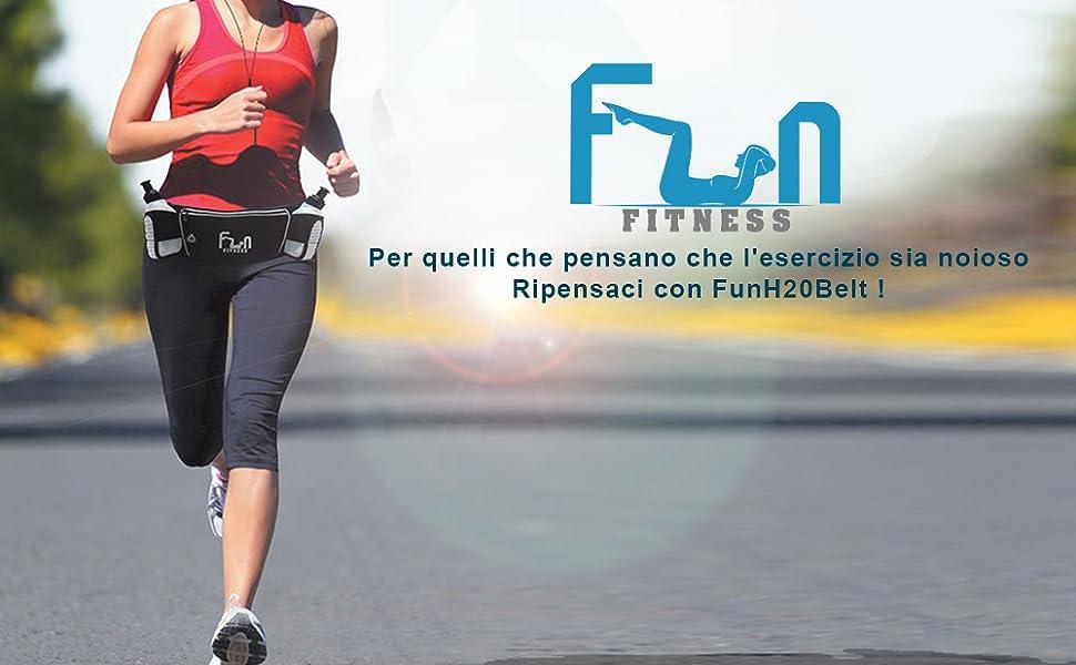 Cintura da Corsa Jogging Ciclismo Girovita Confezione Marsupio Sport Borraccia
