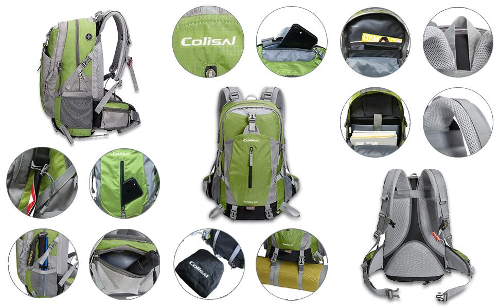 zaino da trekking zaino montagna zaino escursionismo zaino campeggio 40L Donna Uomo viaggio 4 litri