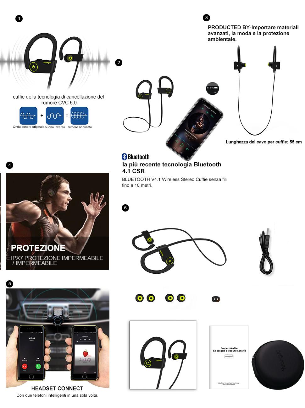Alta qualità è la nostra standard --Arbily la vostra scelta! - BLUETOOTH V4.1  Wireless Stereo Cuffie ... c6da9dc4ffea