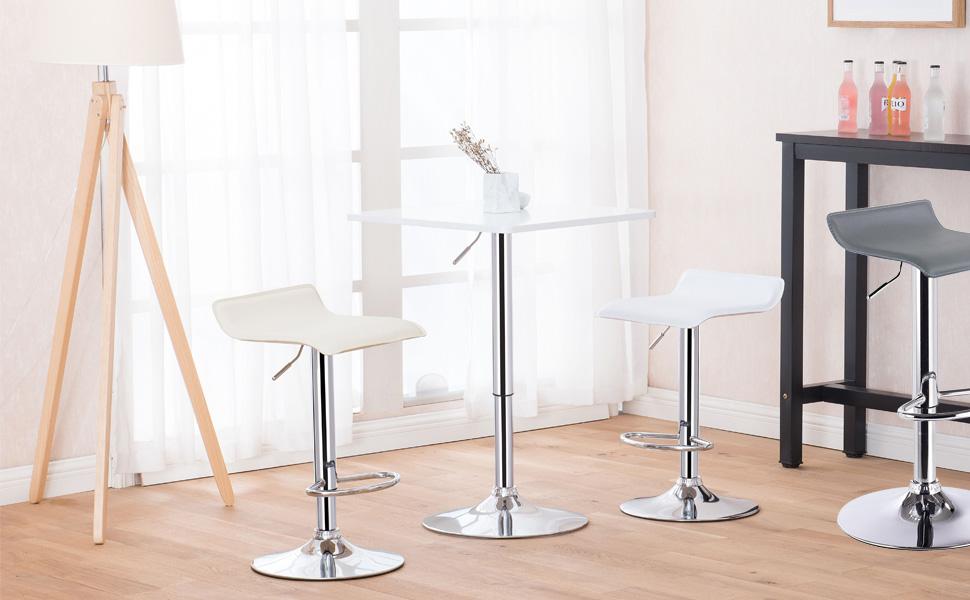 Woltu bh11ws sgabelli da bar sedia club cucina alta con poggiapiedi