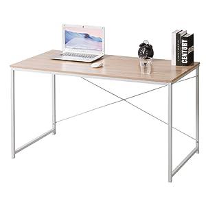 WOLTU TSB08hei Scrivania Libreria Tavolo da Lavoro Ufficio PC Scaffale Moderno in Acciaio Legno 120x60x70cm