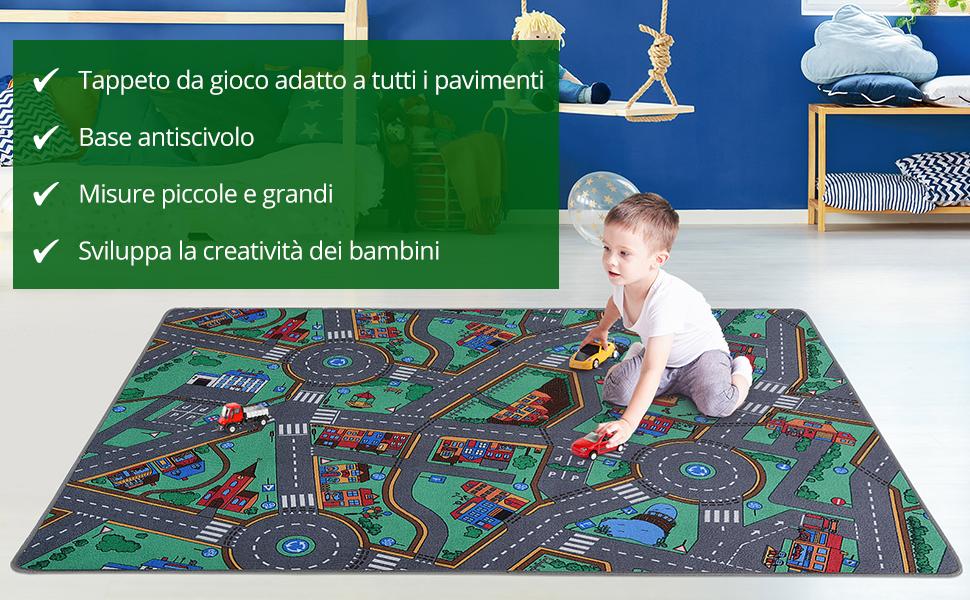 Casa Pura Tappeto Gioco Bambini Interattivo Con Strade E Citta