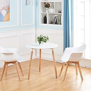 H.J WeDoo Set di 2 Moderne Sedie da Pranzo, Stile Scandinavo ...